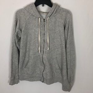 J.Crew zip up hooded sweatshirt medium H16